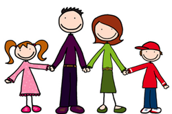 Cartoon image of a family