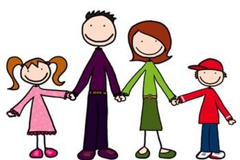 Cartoon image of a family